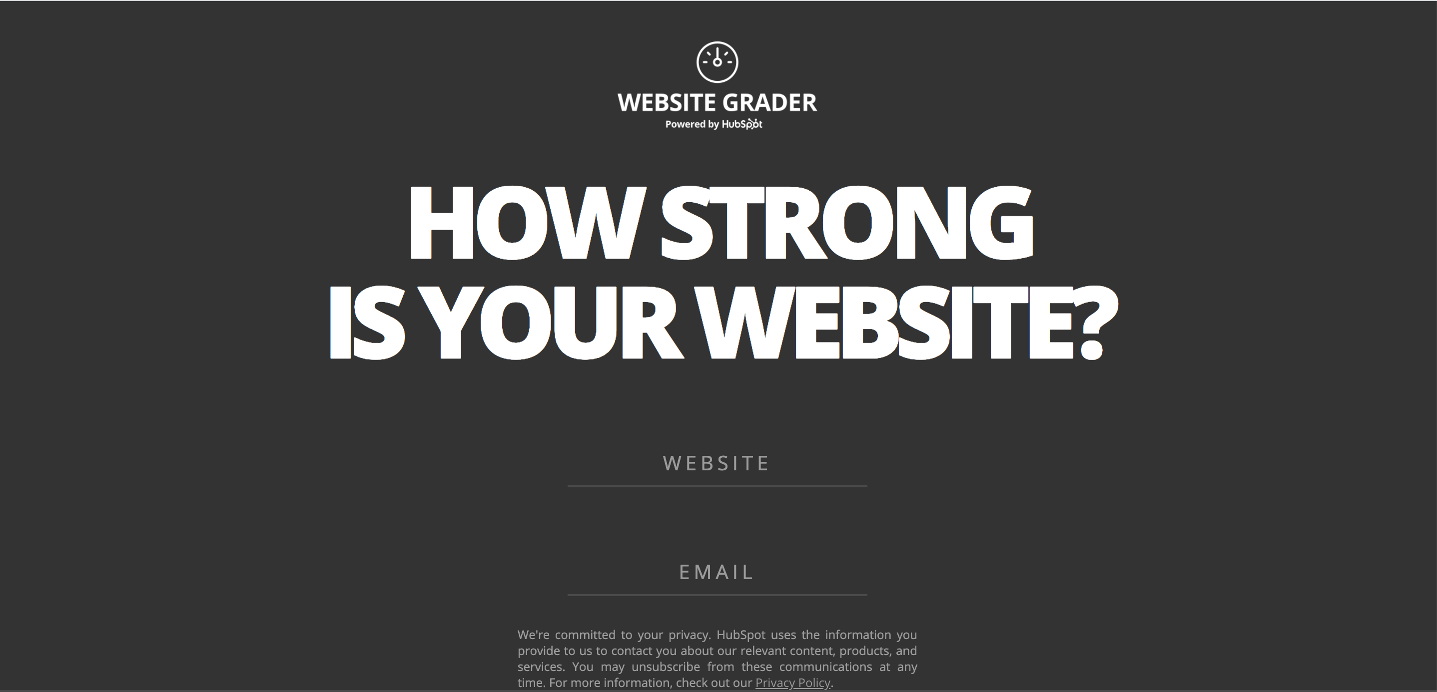 HubSpot Website Grader